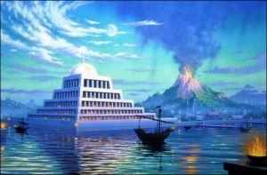 Atlantida - Vulcão - Piramide